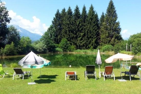 <b>Relaxen am Naturbadeteich direkt am Forellenhof