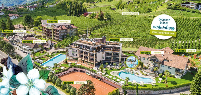 Luxus pur im la maiena meran resort in marling tennishotel in bder la maiena lageplan fandeluxe Image collections